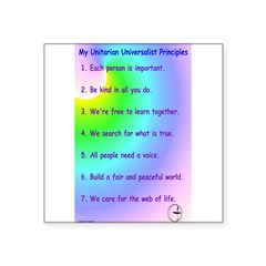 "UU Principles Rectangle Square Sticker 3"" x 3"""