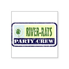"River Rat Rectangle Square Sticker 3"" x 3"""