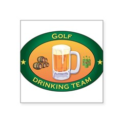 "Golf Team Rectangle Square Sticker 3"" x 3"""