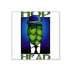 "Hop Head Rectangle Square Sticker 3"" x 3"""