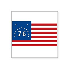 "Bennington Battle Flag Rectangle Square Sticker 3"" x 3"""