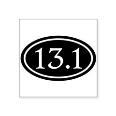 "13.1 Half Marathon Oval Square Sticker 3"" x 3"""