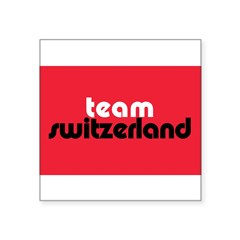"Team Switzerland Rectangle Square Sticker 3"" x 3"""