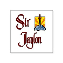 "Sir Jaylon Rectangle Square Sticker 3"" x 3"""