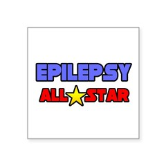 """Epilepsy All Star"" Rectangle Square Sticker 3"" x 3"""