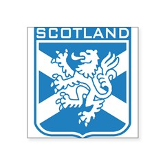 "Scotland Rectangle Square Sticker 3"" x 3"""