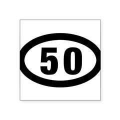 "50 mile Ultrarunning Square Sticker 3"" x 3"""
