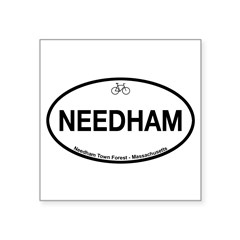 "Needham Town Fore Square Sticker 3"" x 3"""