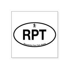 "Resurrection Pass Trail Square Sticker 3"" x 3"""