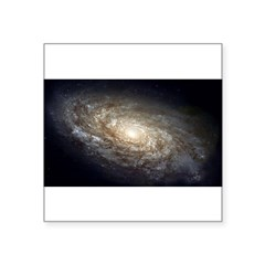 "NGC 4414 Spiral Galaxy Oval Square Sticker 3"" x 3"""