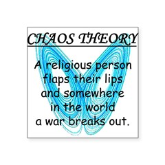 "Chaos Theory - War Square Sticker 3"" x 3"""