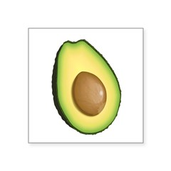 "Avocado Square Sticker 3"" x 3"""
