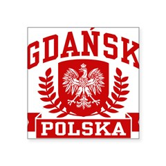 "Gdansk Polska Square Sticker 3"" x 3"""
