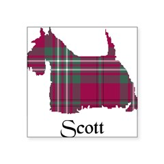 "Terrier - Scott Square Sticker 3"" x 3"""