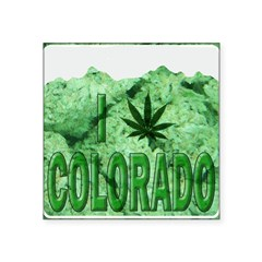 "I pot leaf Colorado Square Sticker 3"" x 3"""