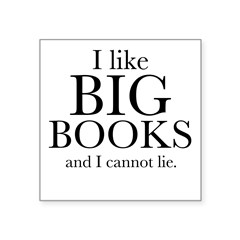 "I LIke Big Book Square Sticker 3"" x 3"""