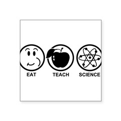 "Science Teacher Square Sticker 3"" x 3"""