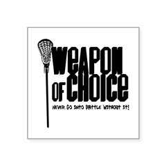 "Lacrosse Rectangle Square Sticker 3"" x 3"""