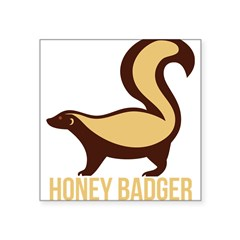 "Honey Badger BadAs Square Sticker 3"" x 3"""