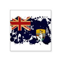 "Saint Helena Flag Square Sticker 3"" x 3"""