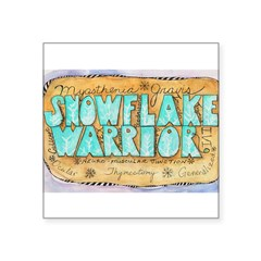 "Snowflake Warrior Square Sticker 3"" x 3"""