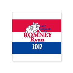 "Romney Ryan Square Sticker 3"" x 3"""