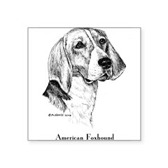 "American Foxhound Square Sticker 3"" x 3"""