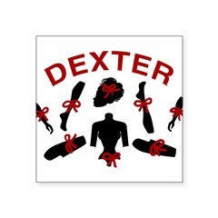 "Dexter Dismembered Doll Square Sticker 3"" x 3"""