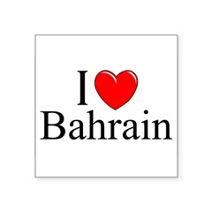 """I Love Bahrain"" Rectangle Square Sticker 3"" x 3"""
