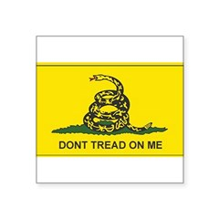 "Gadsden Flag Rectangle Square Sticker 3"" x 3"""