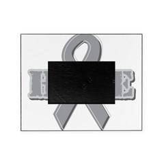 Silver Hope Ribbon Picture Frame