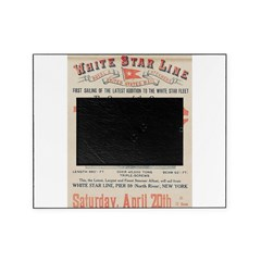 Titanic Advertising Card Picture Frame