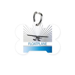 Aircraft Float Plane Bone Pet Tag