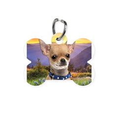 Chihuahua Meadow Bone Pet Tag