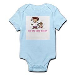 """I'm the little sister!"" (pink) Kids Infant Bodysuit"