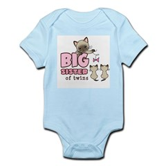 Big Sister of Twins (Kitty) Infant Bodysuit