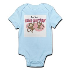 Big Sister (Monkey) Kids Infant Bodysuit