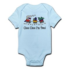 Choo Choo I'm 2 Infant Bodysuit