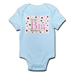 Im the Big Sister Dots Infant Bodysuit