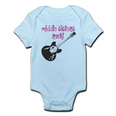 middle sisters rock Infant Bodysuit