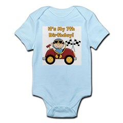 Race Car 7th Birthday Infant Bodysuit