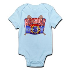 Baseball Boy 5th Birthday Infant Bodysuit
