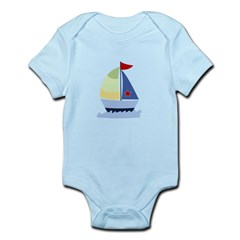 Nautical Sailboat Infant Bodysuit