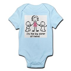 Big Sister of Twins Infant Bodysuit
