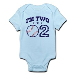 Two Year Old Baseball Infant Bodysuit