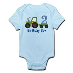 2nd Birthday Tractor Infant Bodysuit