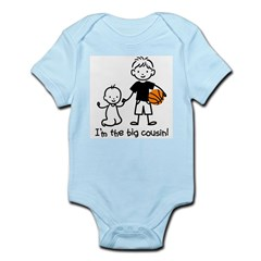 Big Cousin - Stick Characters Infant Bodysuit