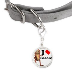 bacon copy.jpg Small Round Pet Tag