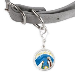 nativity scene cp.png Small Round Pet Tag