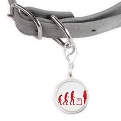 Evolution zombie Small Round Pet Tag